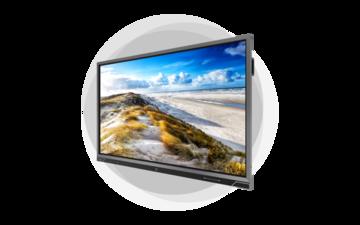 """Benq RP8602 Interactief flatscreen 2,18 m (86"""") LED 4K Ultra HD Zwart Touchscreen Type processor Android 8.0 - Pakket - vergaderruimte"""