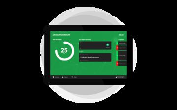 GoBright Digitale zelfregistratie kiosk logo en badge design - Pakket - Roommanagement